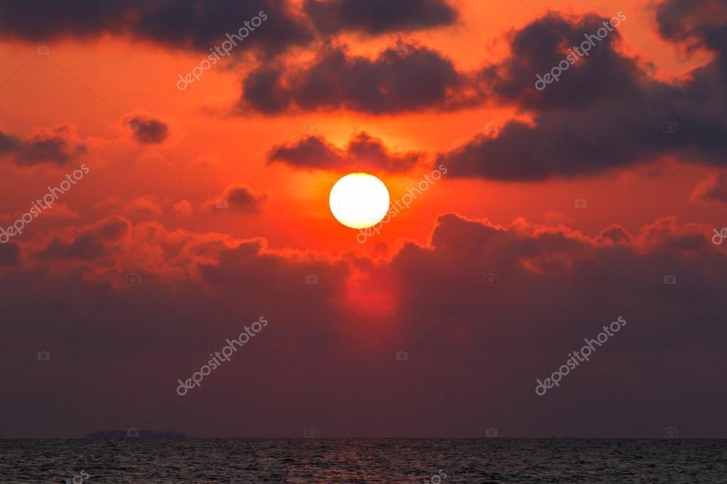 Sand beach on sunset