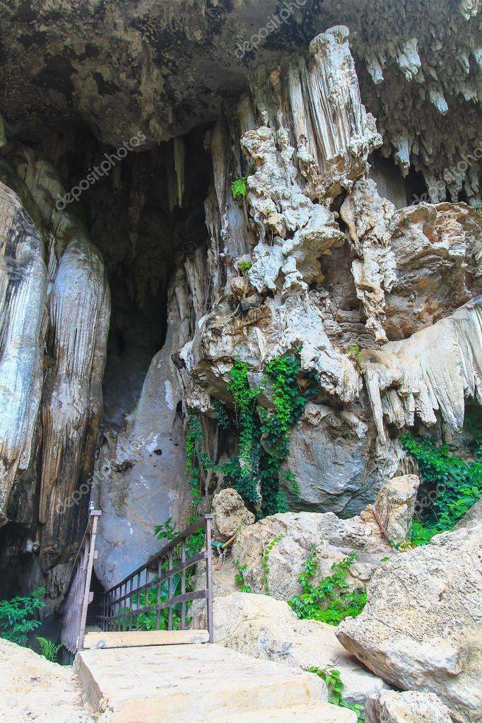 Exit of a cave ancient