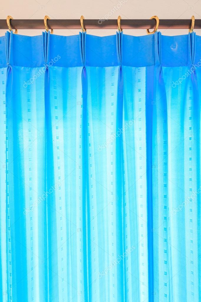 blauwe gordijnen achtergrond — Stockfoto © Deerphoto #64805227