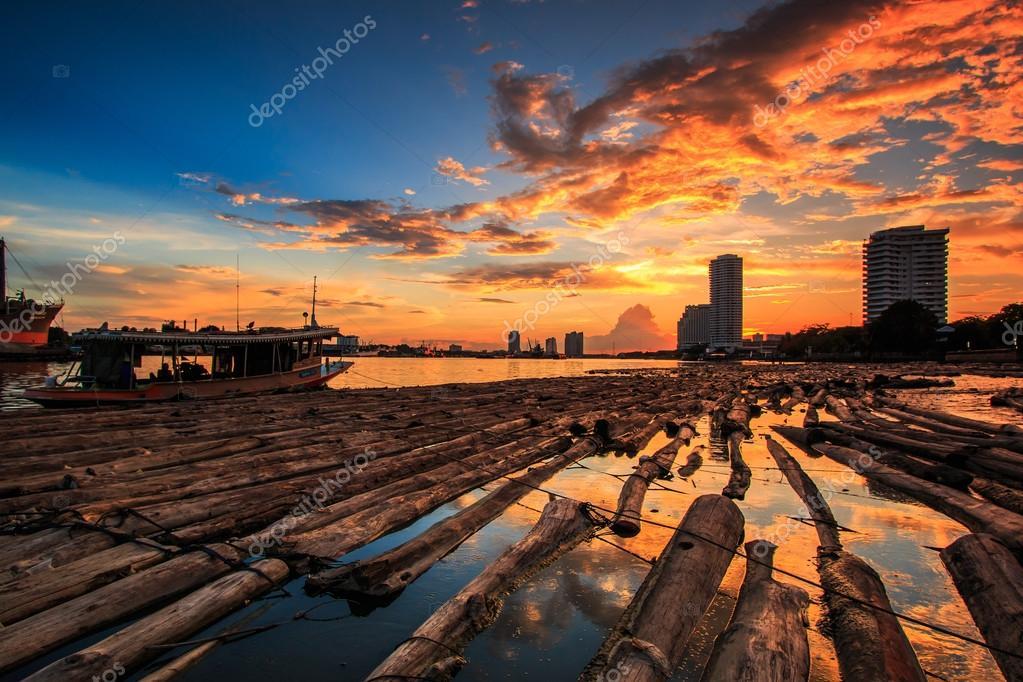 View sunset landscape