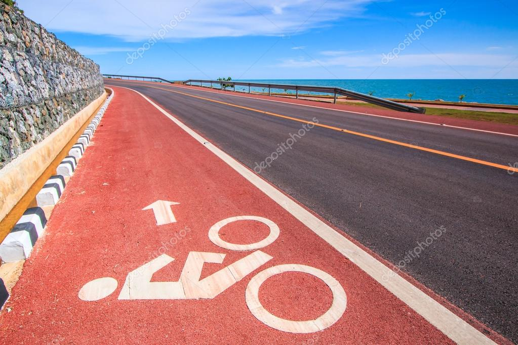 Bicycle lane bicycle path
