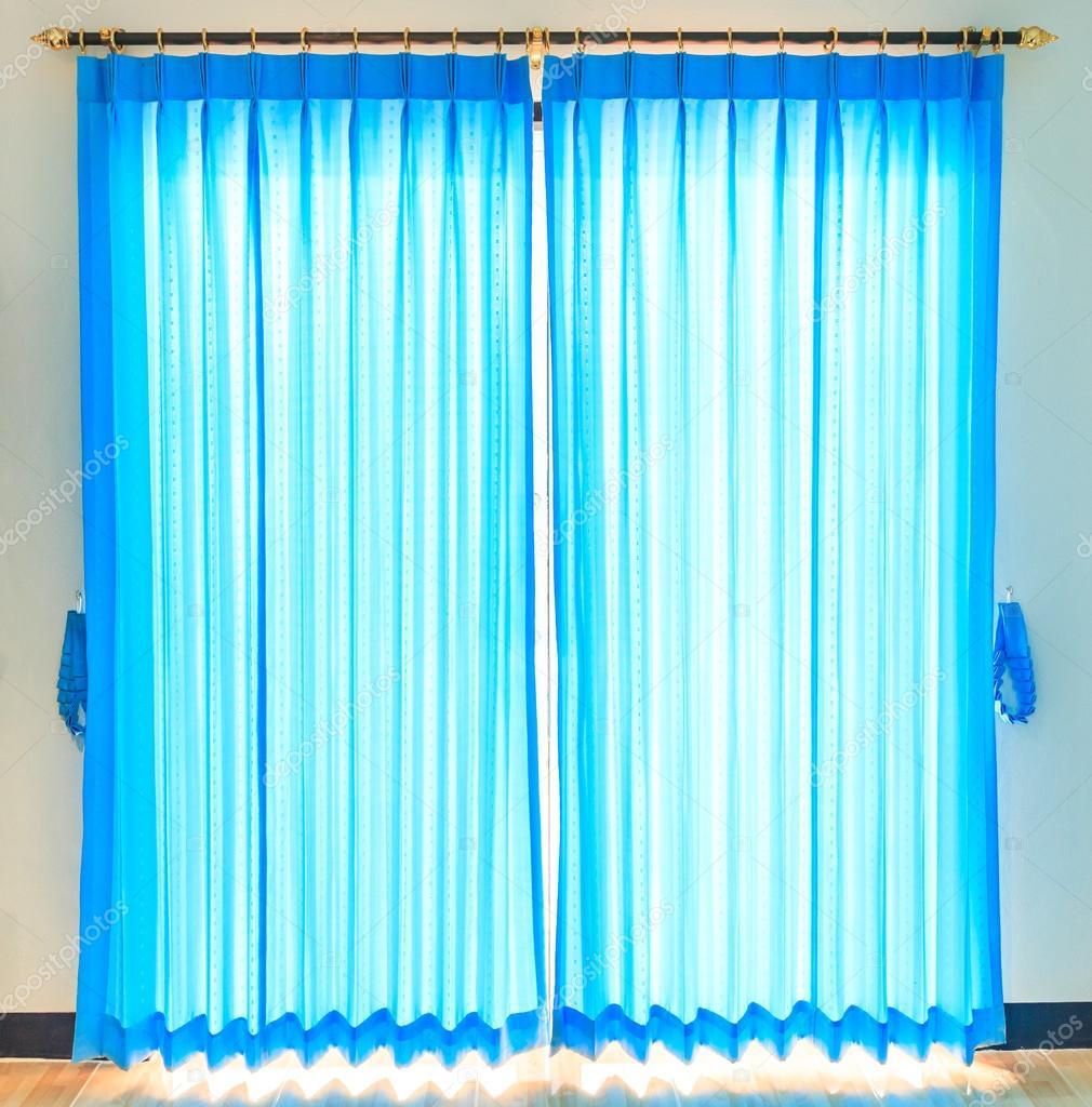 blauwe gordijnen achtergrond — Stockfoto © Deerphoto #68297147