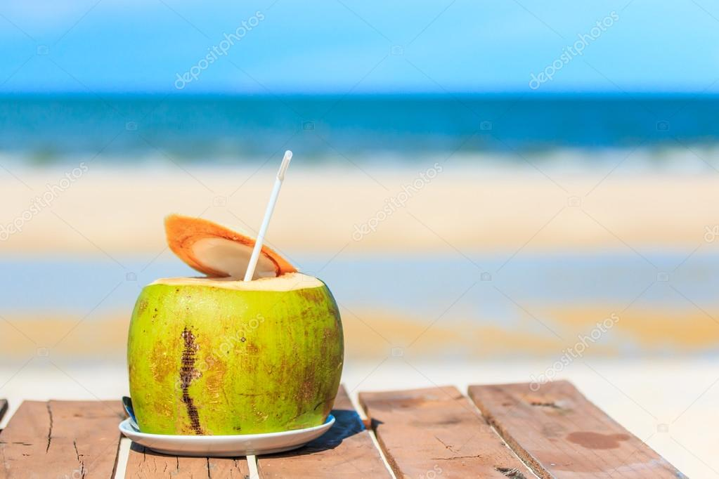 Summer coconut drink