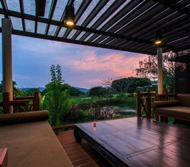 Beautiful modern terrace lounge