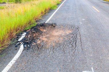 Damaged road Road