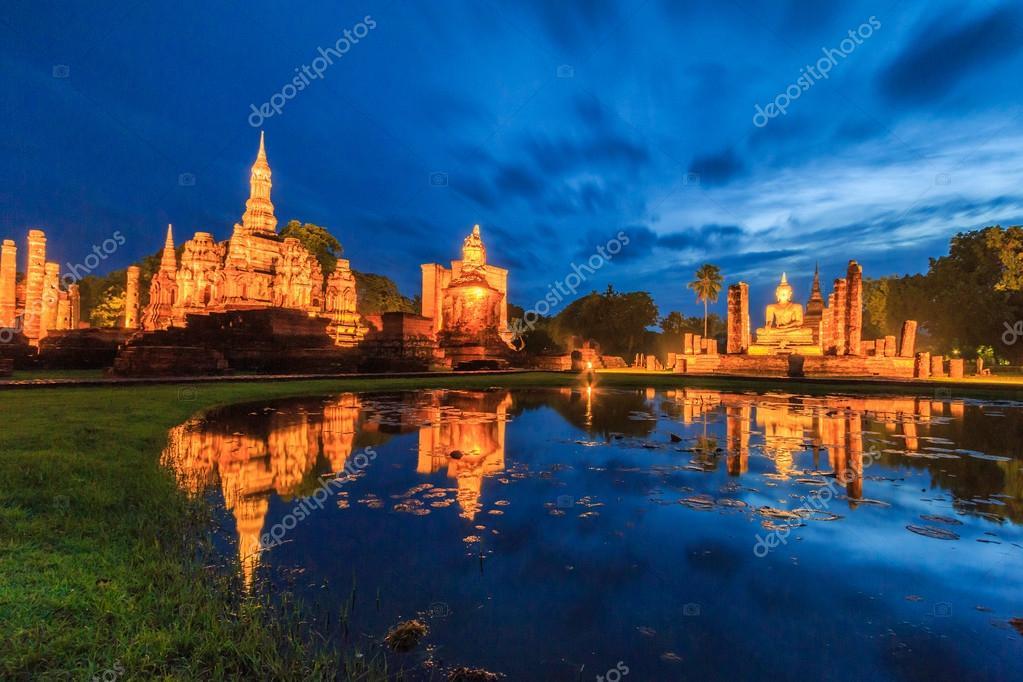 Sukhothai historical park in Thailand