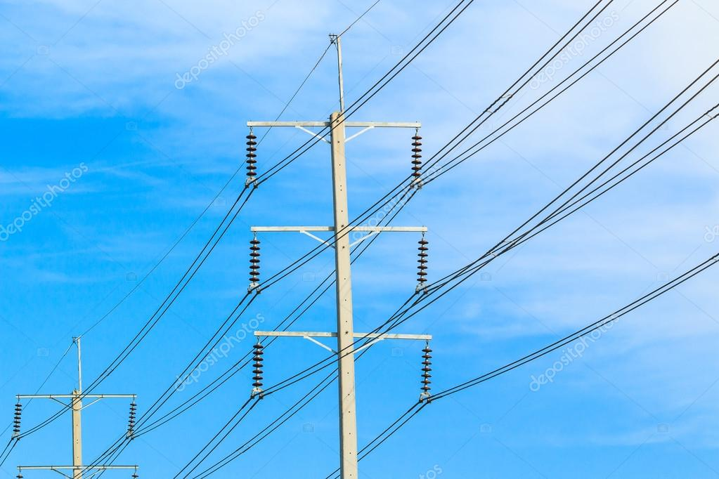 wire pole electricity post — Stock Photo © Deerphoto #75969325