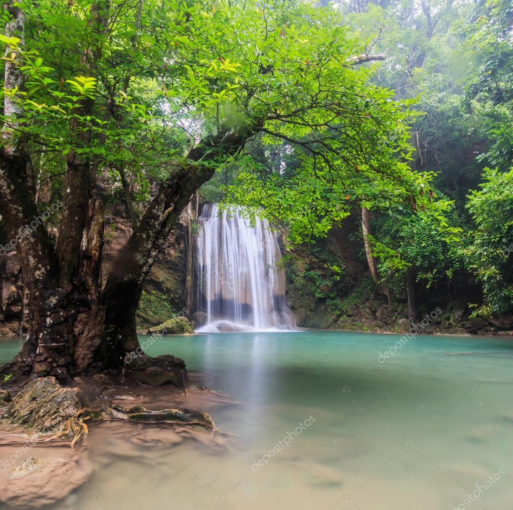 Waterfall  in kanchanaburi of Thailand