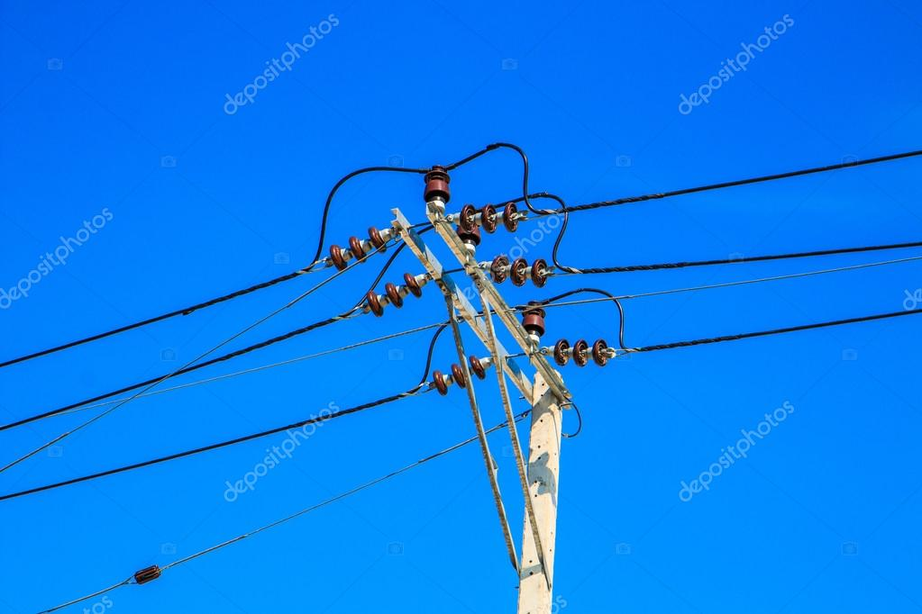 electric pole with power lines