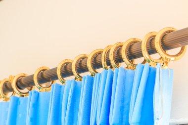 blue decorative curtain