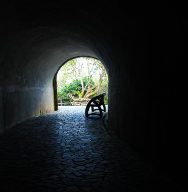 Walkway park tunnel