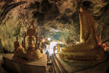 highlight krasae cave and buddha