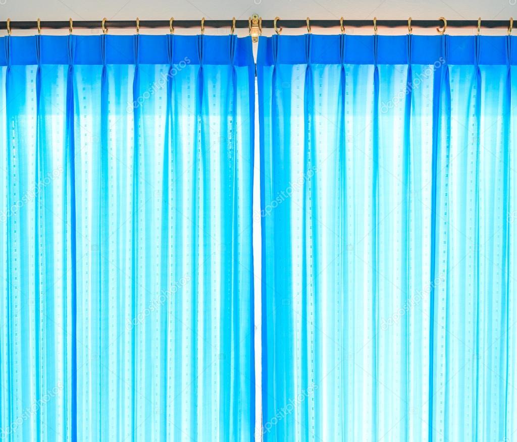 blauwe gordijnen achtergrond — Stockfoto © Deerphoto #89890902