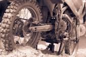 Fotografia ruota di bicicletta di motocross