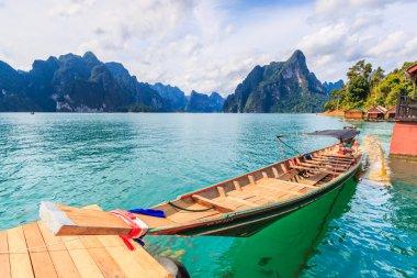 "Картина, постер, плакат, фотообои ""длиннохвостая лодка в плотине ратчапрафа пейзаж море шишкин"", артикул 96434704"