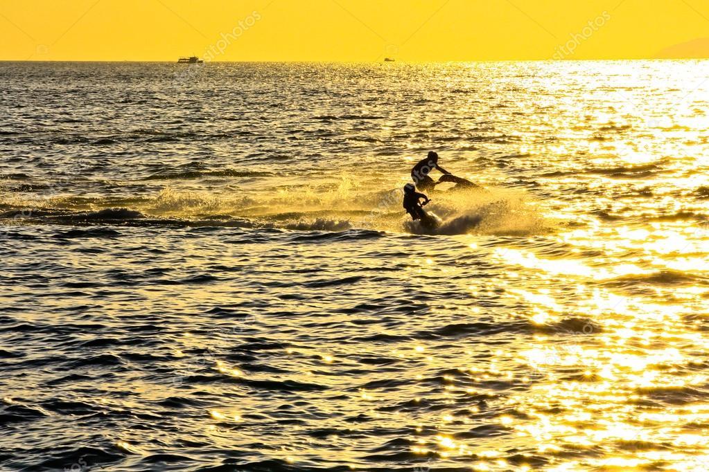 sunset thailand beach