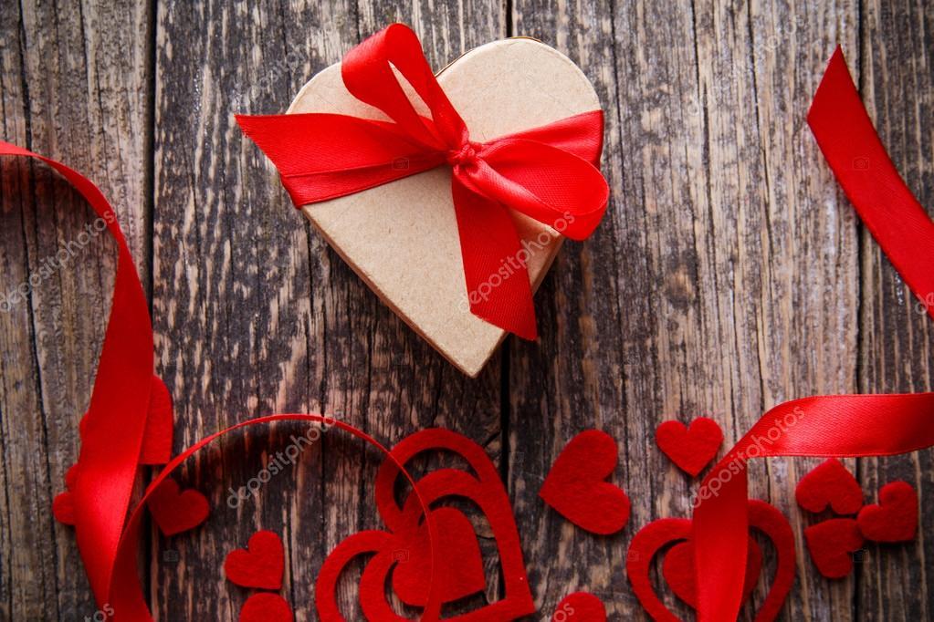 Romantisches Geschenk Zum Valentinstag Für Freundin Stockfoto