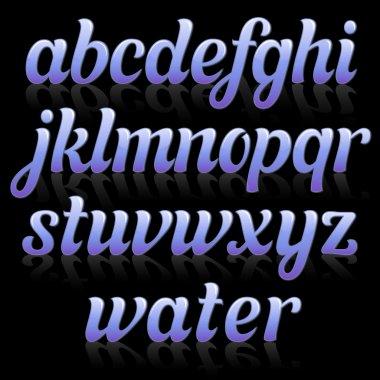 Glamour italic font