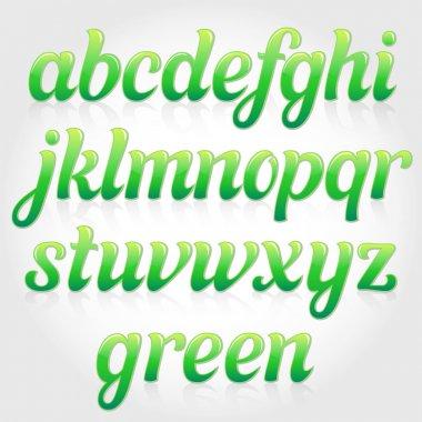 Eco green italic font