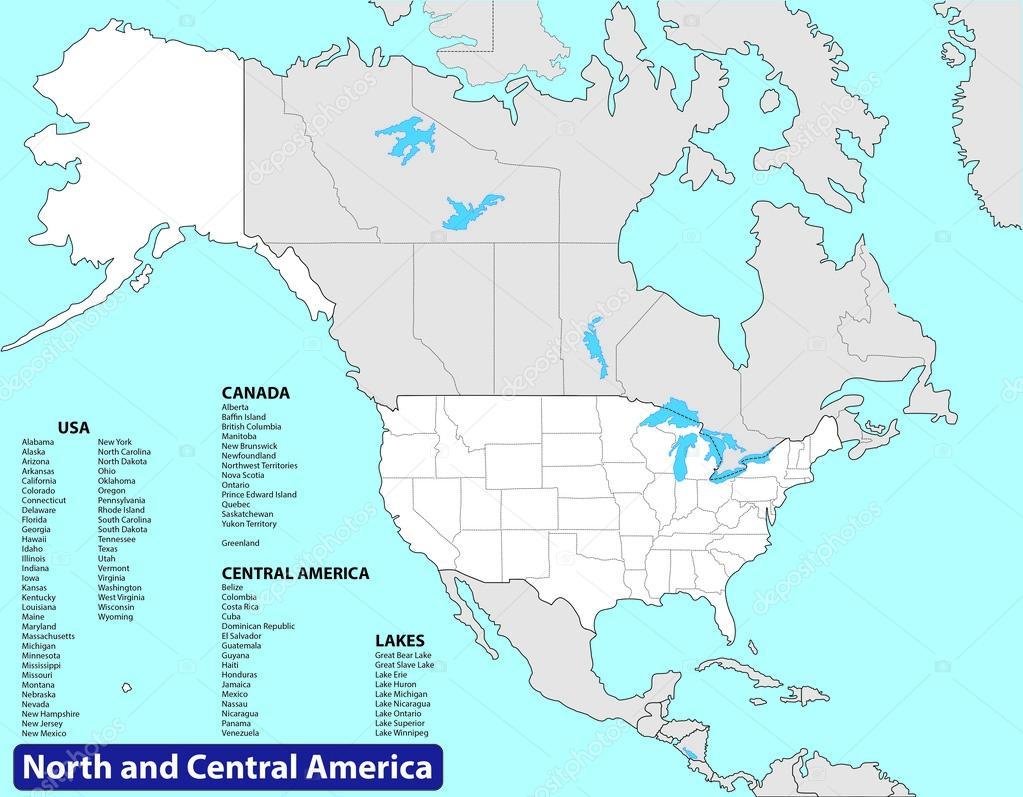 North and Central America — Stock Vector © Sasa1867 #56695271
