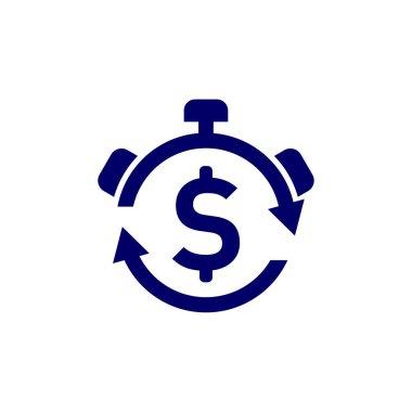 Money Time logo design vector template, Business logo design concept, Icon symbol icon