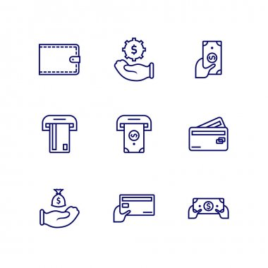 Set of Business financial logo design concept, Accounting logo design vector template, Icon symbol icon