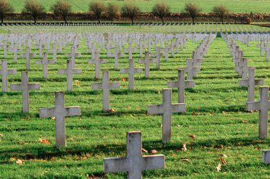 Cemetery of French soldiers from World War 1 in Targette