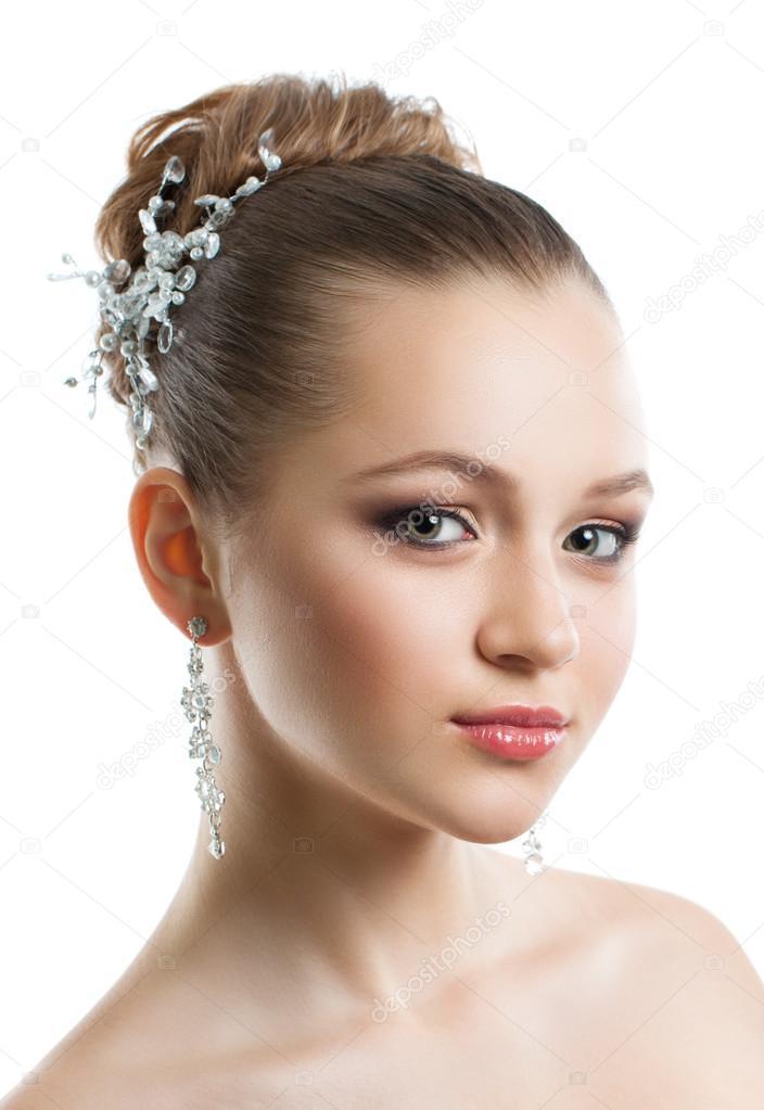 Portrat Eines Jungen Madchens Mit Einem Hochzeit Make Up Perfekte