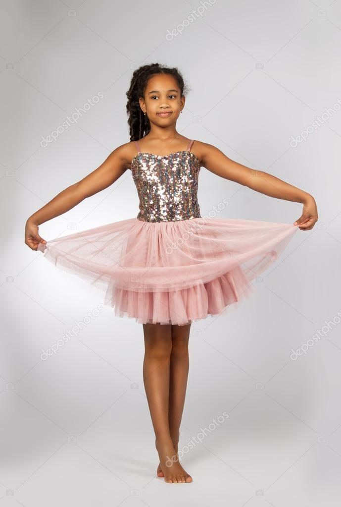 Beautiful little girl dancing