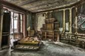 Rozbité a demolován piano v opuštěném manor.tif