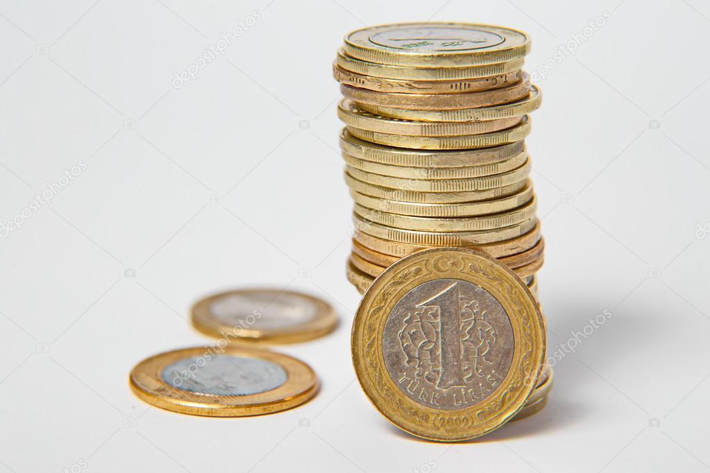 Türkische Lira Münzen Stockfoto Jasastyle 106472468