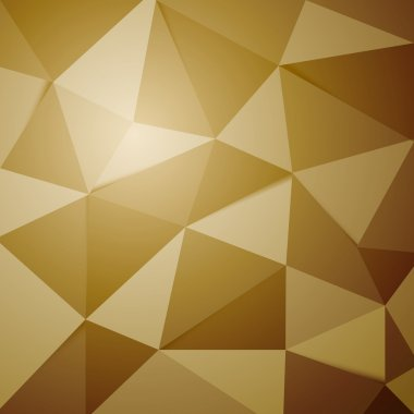 Abstract golden polygon triangle background