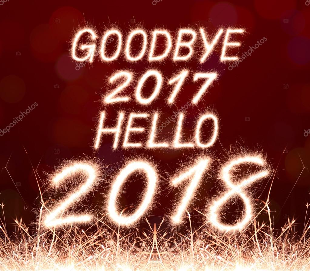 goodbye 2017 hello 2018 — Stock Photo © studio306stock ...