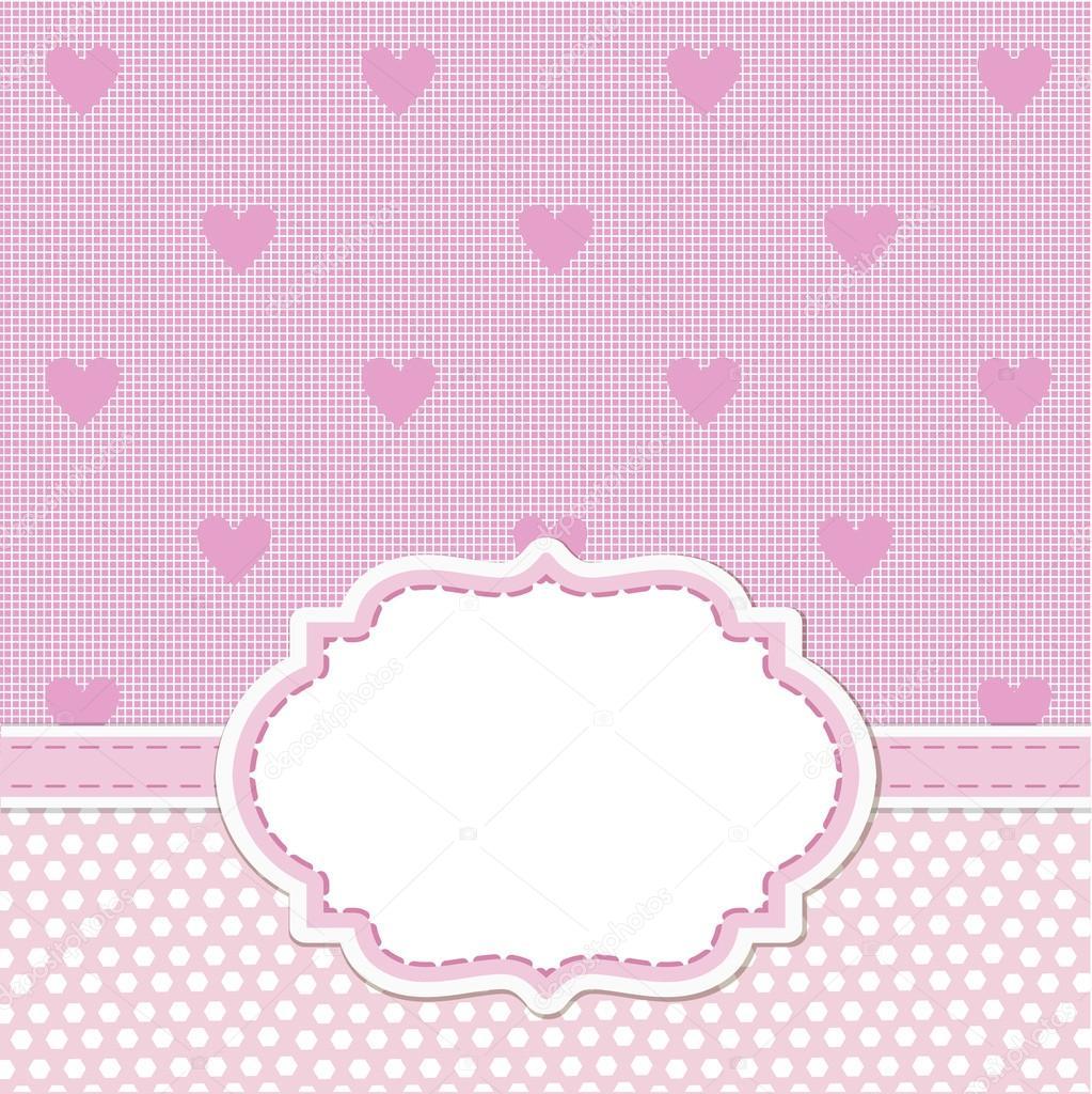 Fondo Invitacion Baby Shower Rosa De La Tarjeta De