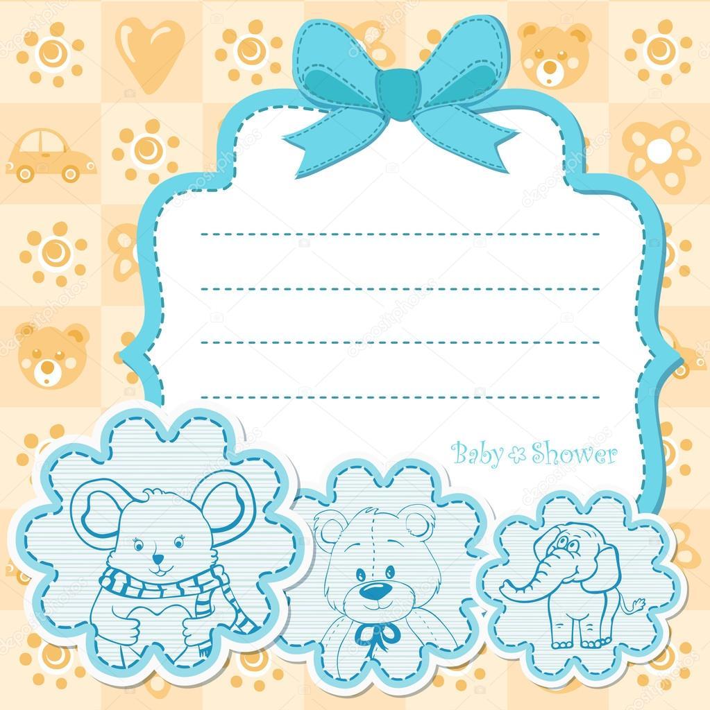 0ed55d915f2ca Invitación de niño de bebe para baby shower — Vector de stock
