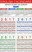 Anglická kalendáře 2017. Čtyři styly