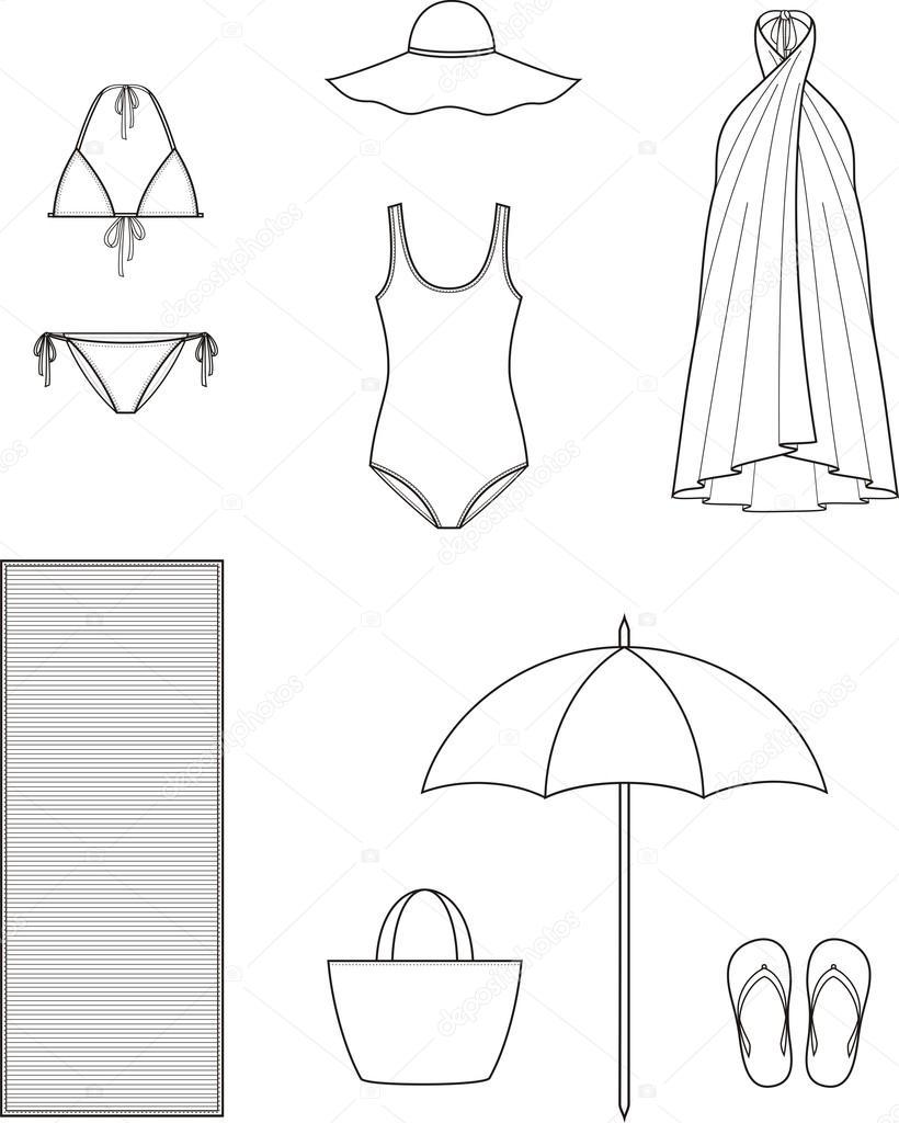 summer clothes stock vector pushinka11 77196097 Hippie Clothes summer clothes stock vector