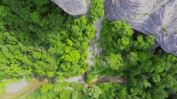 Flying over top of the beautiful mountain plateau