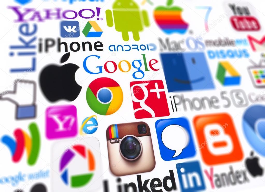 40a285baeef6 logo s van populaire computing merken – Redactionele stockfoto ...