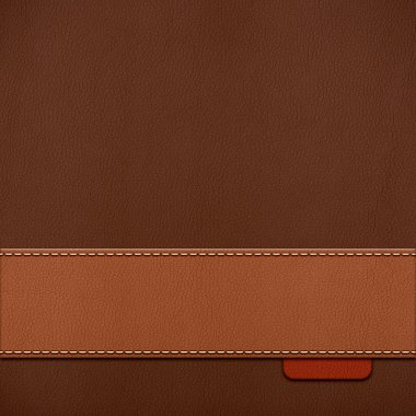 Vintage stitched leather background in brown colors stock vector