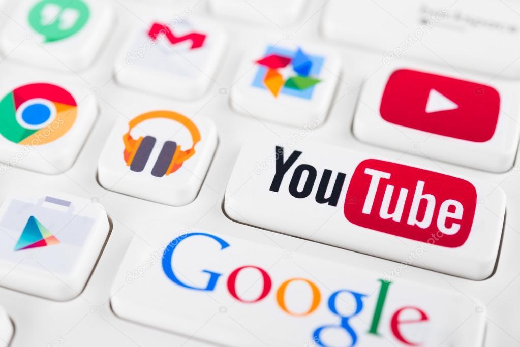 Logotipos mais populares de aplicativos do Google