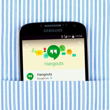 Hangouts app on the Samsung galaxy display