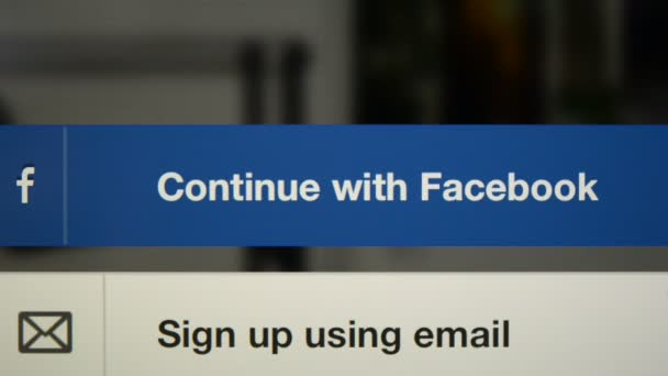 Compilation of facebook buttons on iPad display