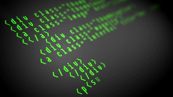 Program code on the computer display