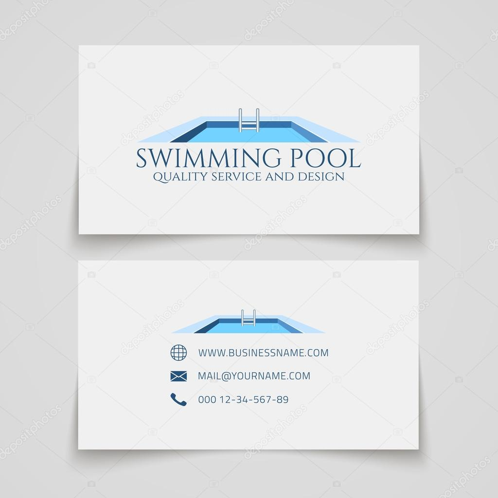 Swimming pool business card stock vector aleksandrsb 116590926 business card template swimming pool quality service and design conceptual logo vector by aleksandrsb colourmoves