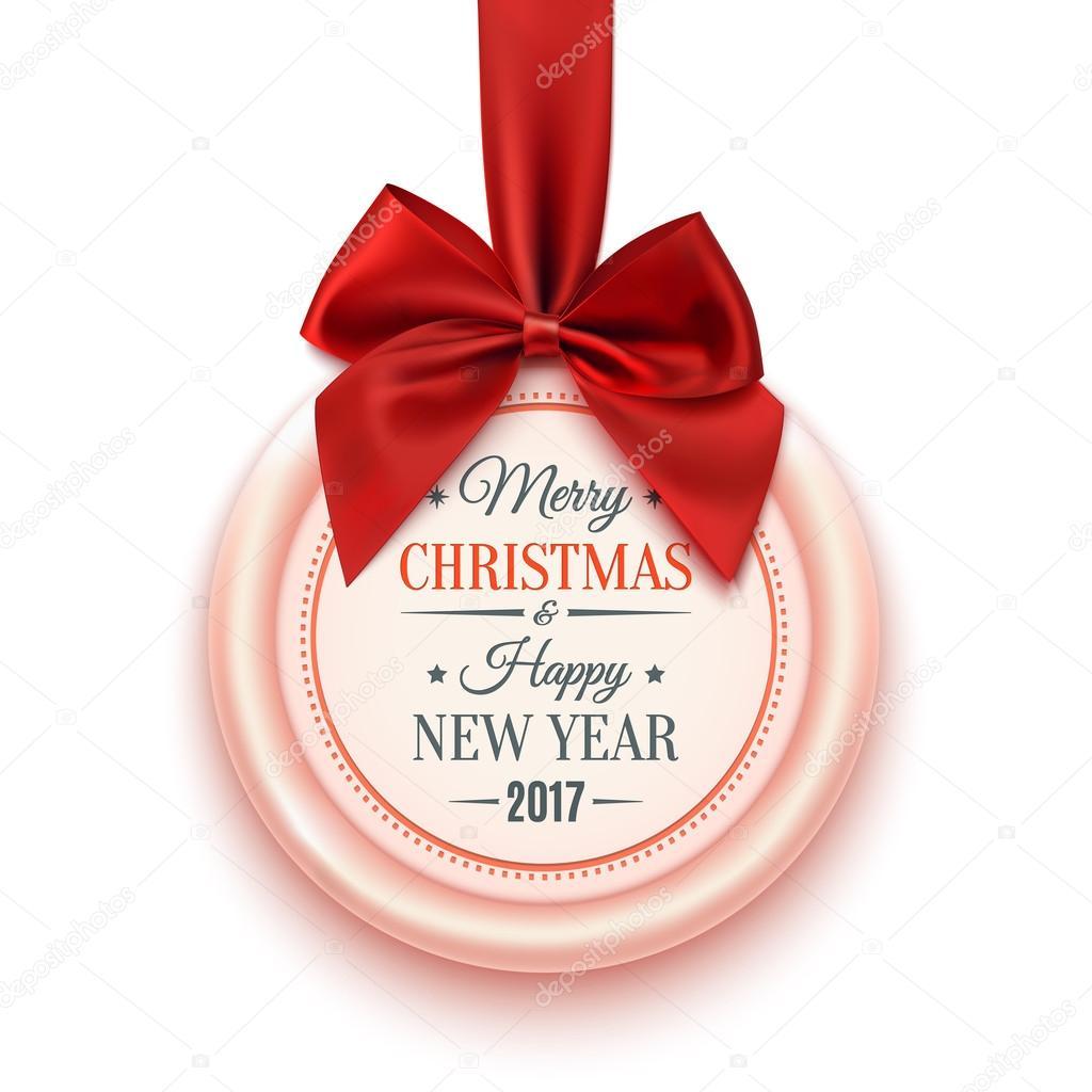 192b6b107 Veselé Vánoce 2017 odznak — Stock Vektor © Aleksandrsb #122363896