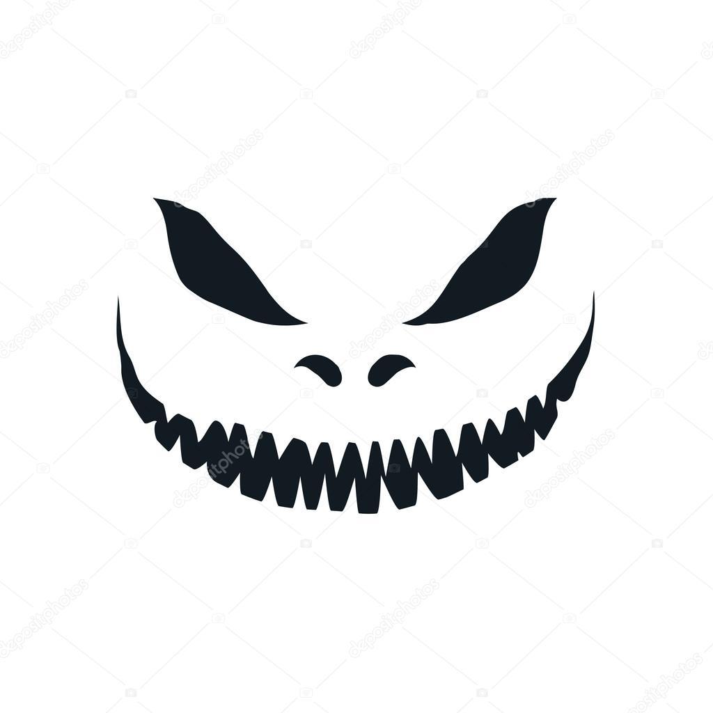 scary face isolated on white background stock vector rh depositphotos com scary cartoon face spooky cartoon faces
