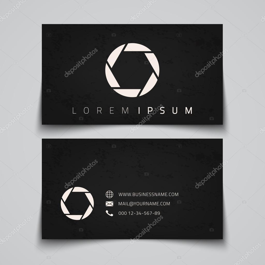 Business Card Template Camera Shutter Concept Logo Vector Illustration Vecteur Par Aleksandrsb Trouver Des Images Similaires