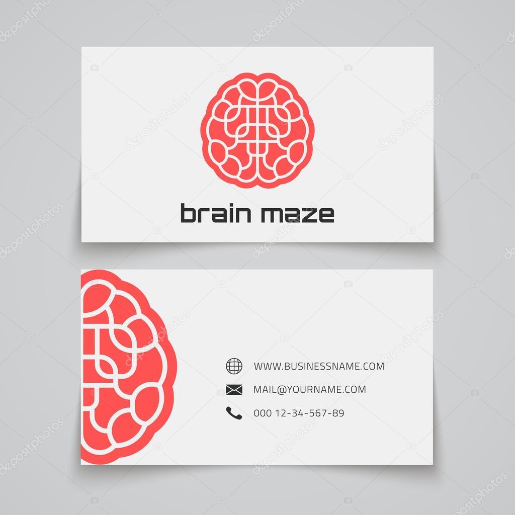 Plantilla de tarjeta de visita. Logo de concepto de laberinto ...