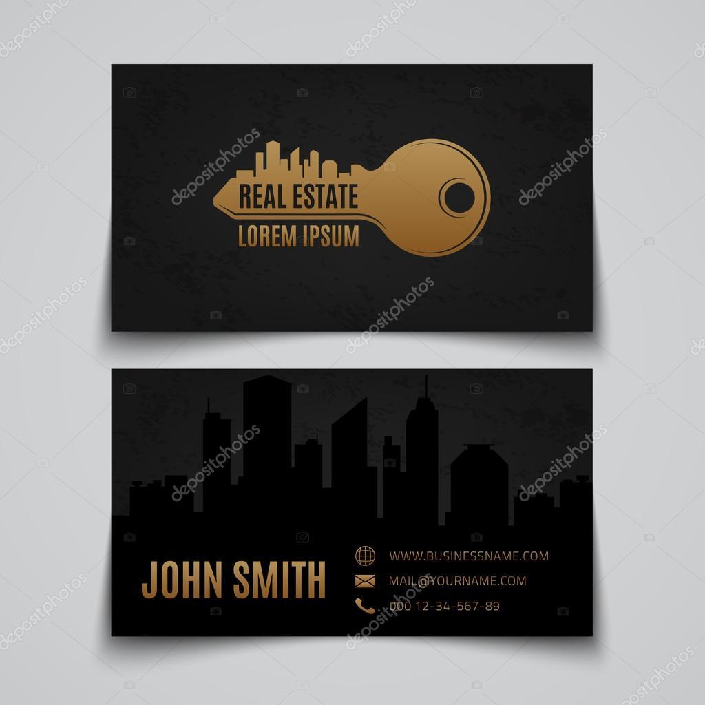 Immobilier Simple Logo Principal Modle De Carte Visite Illustration Vectorielle Vecteur Par Aleksandrsb